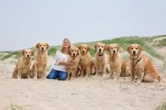 Izzy, Dexter, Sandra, Logan, Ruby, Cooper, Taylor en Hummer